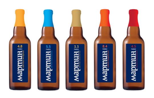 фото ассортимента пива Мартин