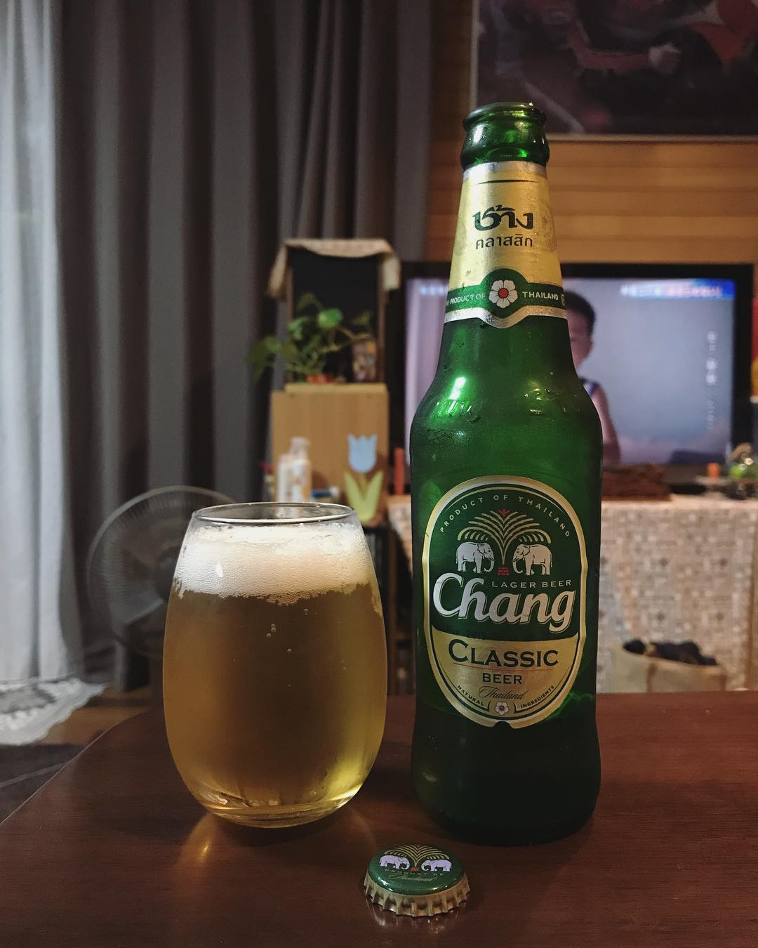 фото пива Чанг в бокале