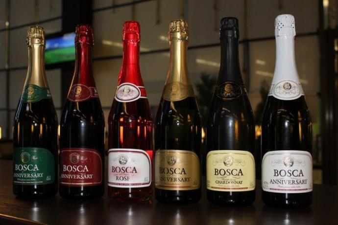 фото ассортимента шампанского Боска