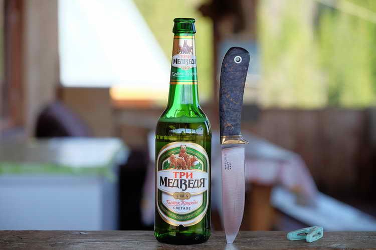 фото бутылки пива три медведя