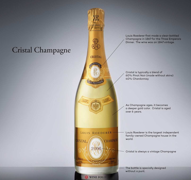 фото бутылки шампанского Кристалл