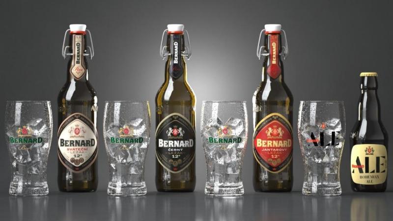 фото ассортимента пива Бернард