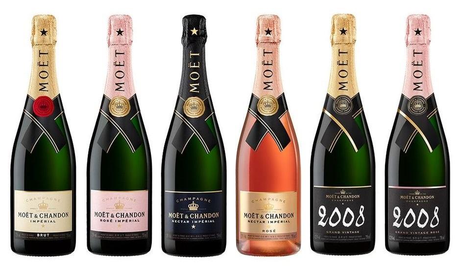 фото ассортимента шампанского Моэт