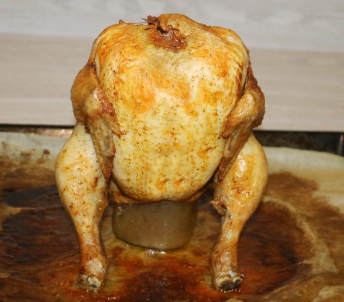 фото курицы с пивом в духовке на банке