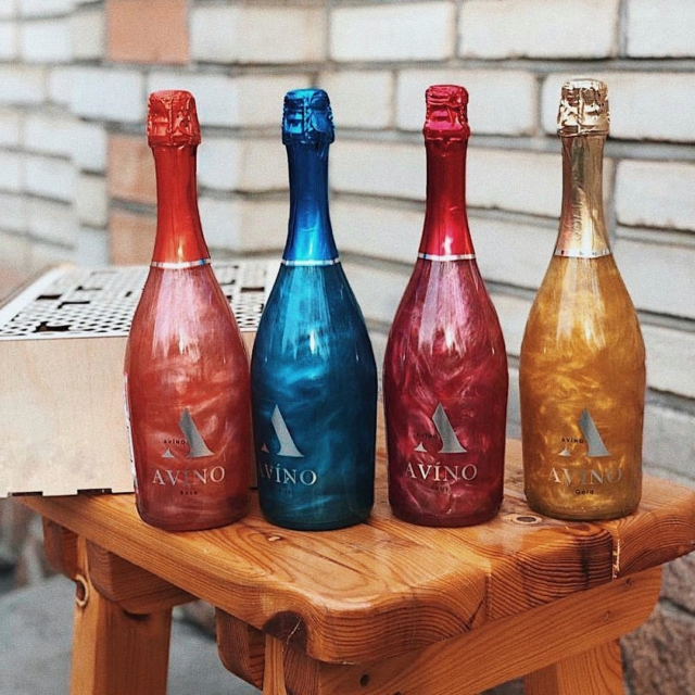 фото перламутрового шампанского Авино