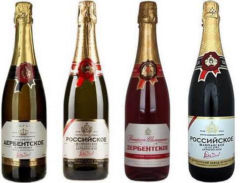 фото ассортимента Дербентского шампанского