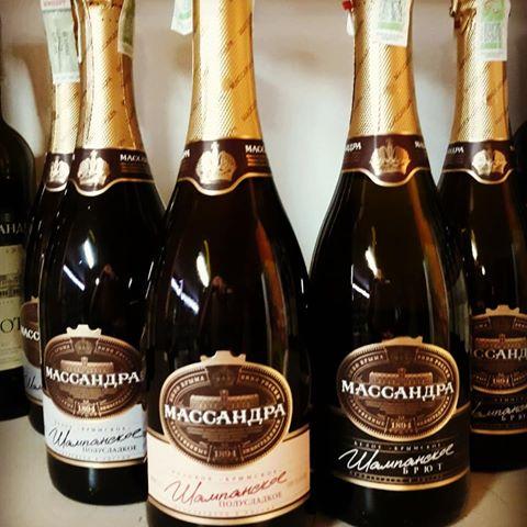 фото ассортимента шампанского массандра