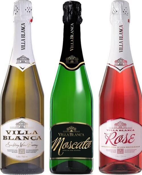 фото ассортимента шампанского Вилла Бланка