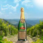 фото бутылки шампанского золотая балка