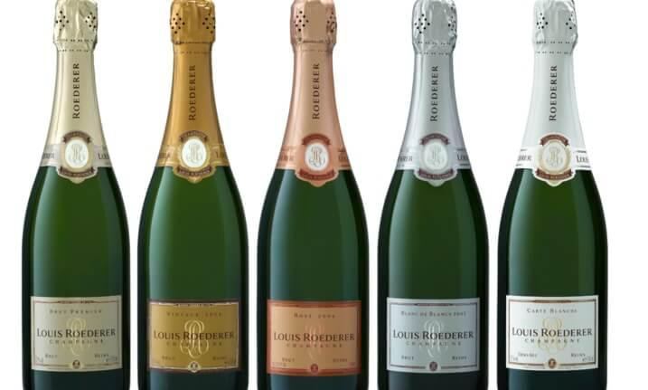 фото ассортимента шампанского Луи Родерер