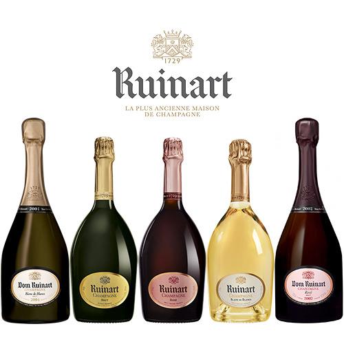 фото ассортимента шампанского Рюинар