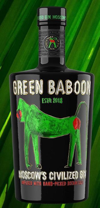 фото бутылки джина грин бабун