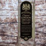 этикетка Лондон драй джин