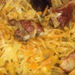 фото польской тушеной капусты бигус с мясом