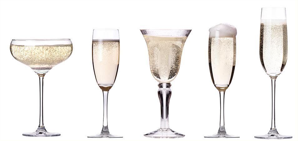 фото видов бокалов для шампанского