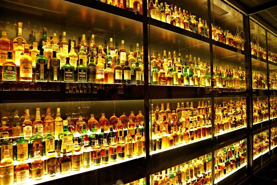 фото ассортимента алкогольных напитков Диаджио