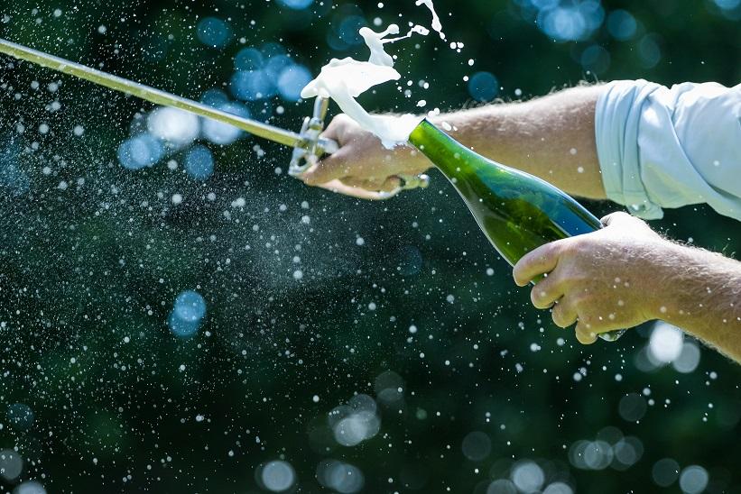 фото сабража шампанского