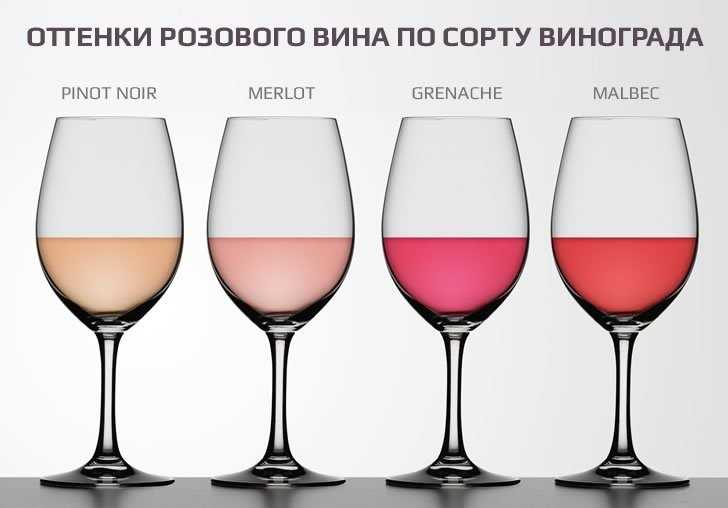 фото видов розовых вин Прованса