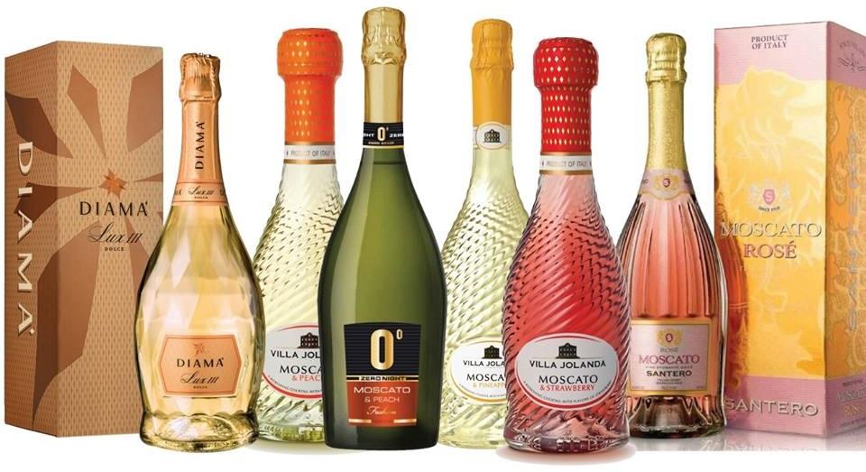 фото ассортимента шампанского Сантеро