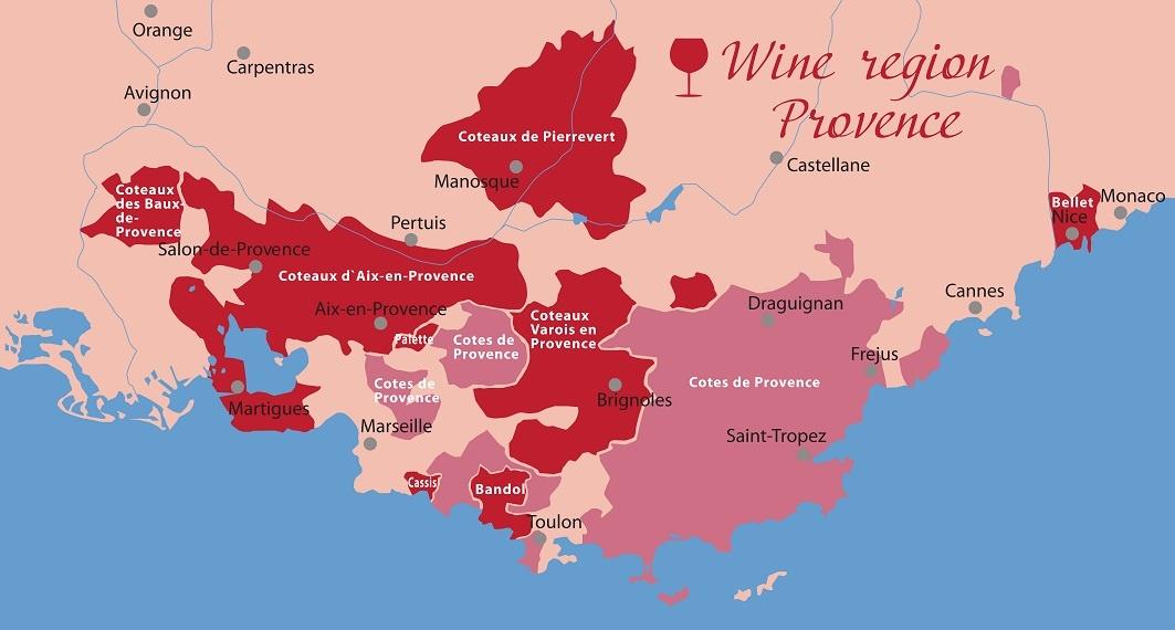 винодельческие области Прованса