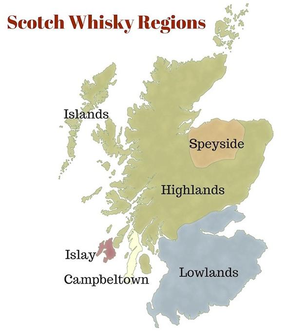 регионы производства шотландского виски