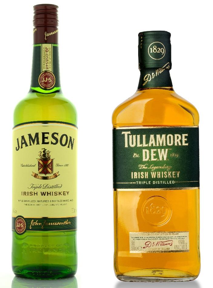 фото лучшего ирландского виски Джемесон и Тулмор Дью