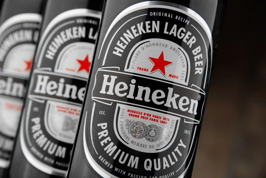 фото этикетки пива Хайнекен
