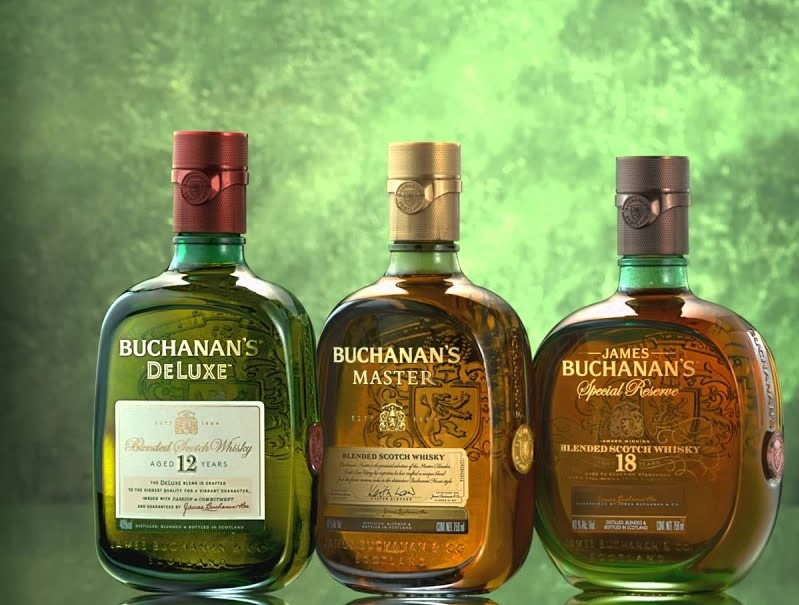 фото ассортимента виски Buchanan's