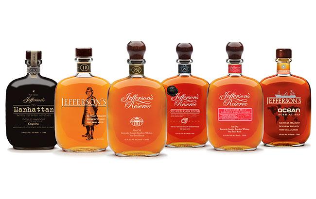 фото ассортимента виски Jefferson's