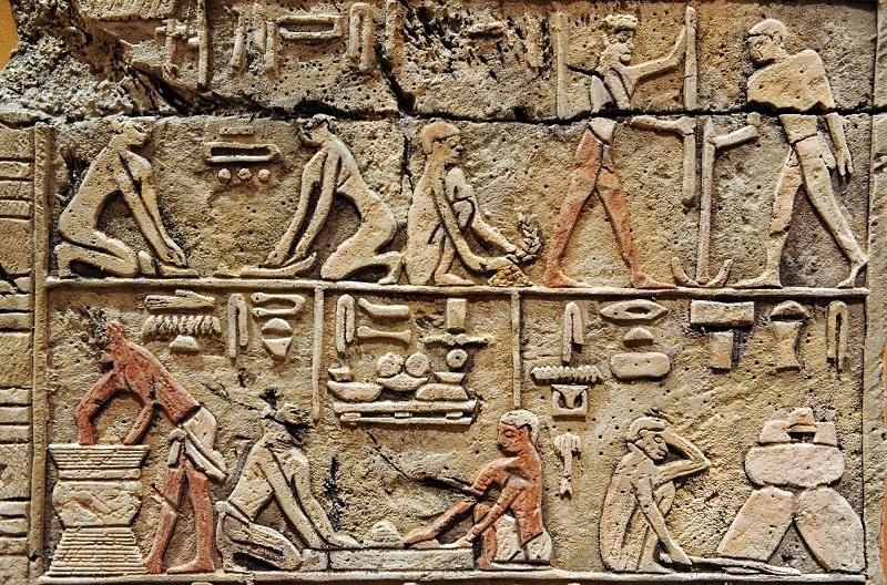 фреска древние египтяне варят пиво фото