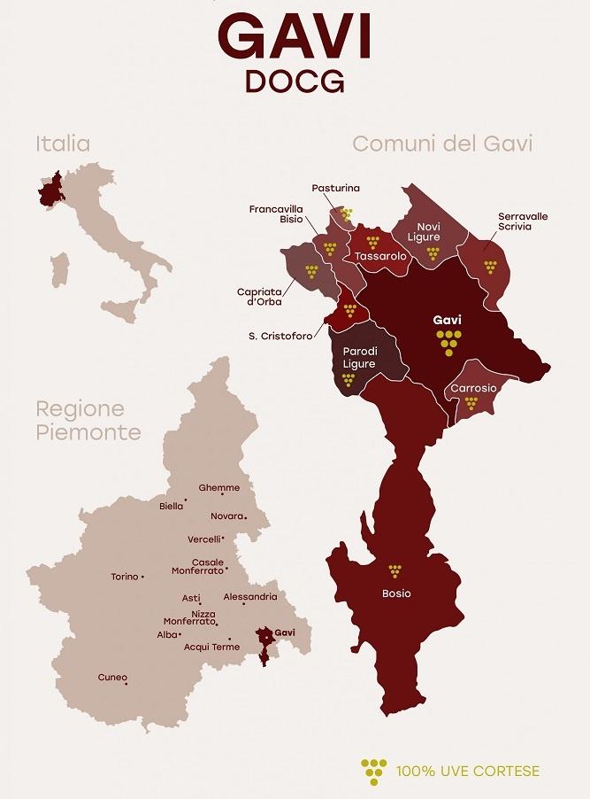 карта винодельческой зоны Гави