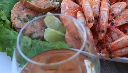белое вино с рыбой