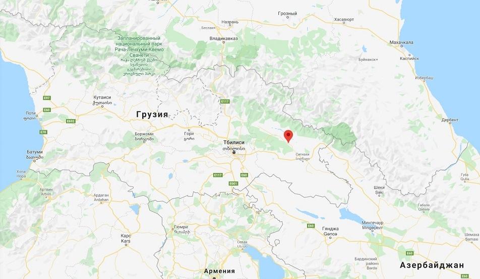 деревня Вазисубани на карте
