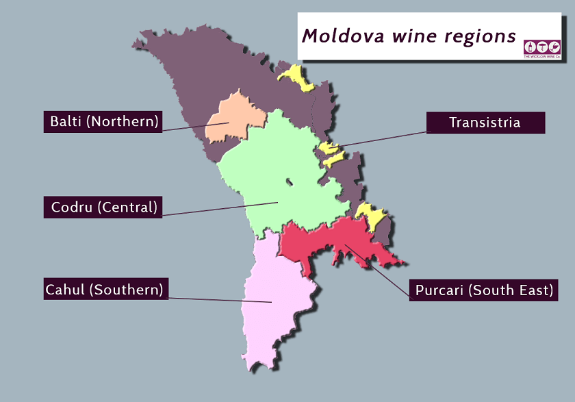 карта виноделия в Молдавии