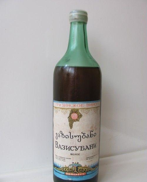 стараяя бутылка вина Вазисубани