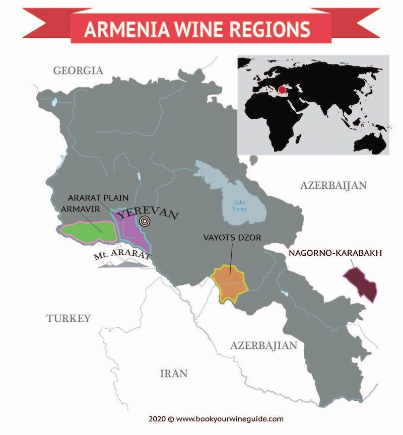 карта армянского виноделия