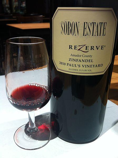 красное вино Зинфандель