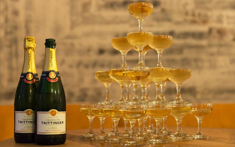 горка из шампанского в домашних условиях фото