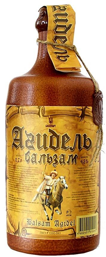 подарочная бутылка бальзама Агидель фото