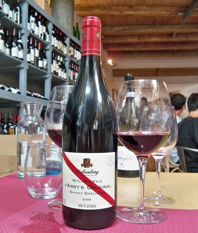 бутылка вина Гренаш