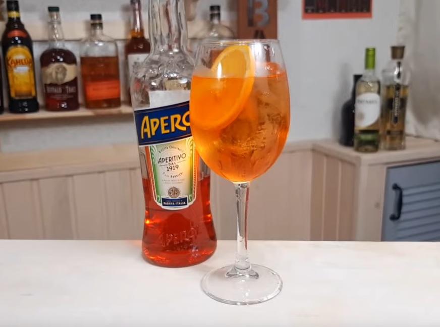 коктейль апероль с шампанским фото