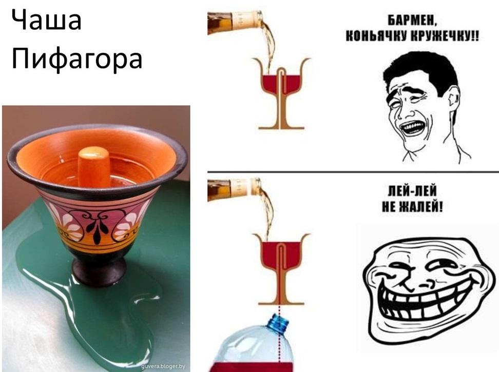 шутка про чашу Пифагораа