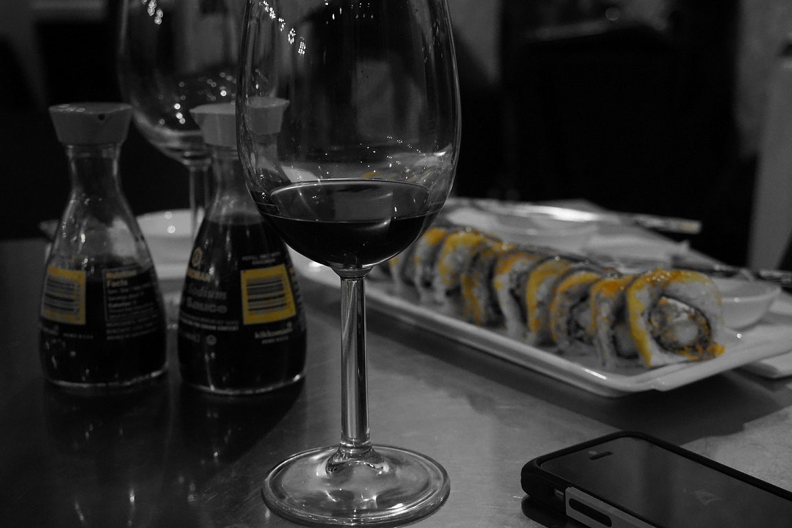 суши к красному вину