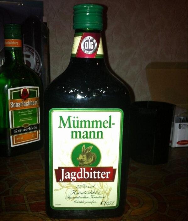 бутылка ликера Mummelmann Jagdbitter