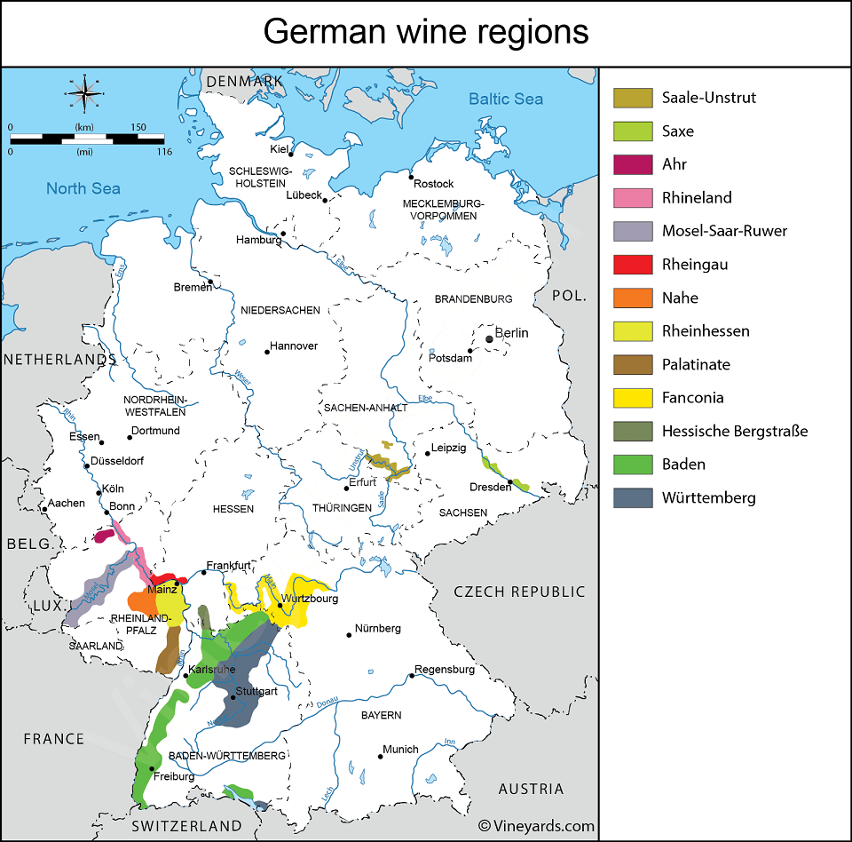 карта немецких вин фото