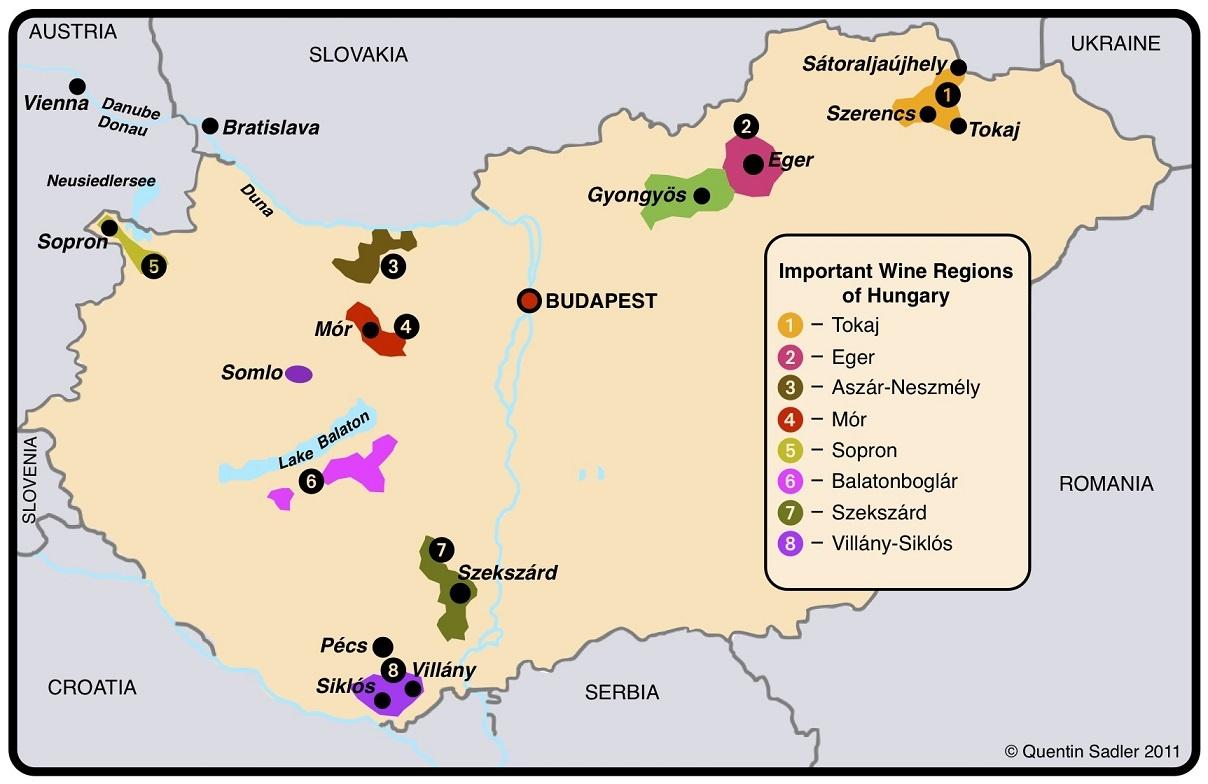 регионы производства вин Венгрии